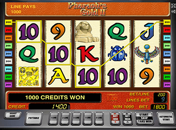 В Вулкан Платинум Pharaohs Gold 2